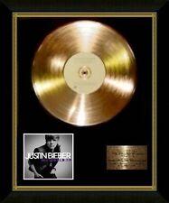 Justin Bieber / Ltd Edition CD Gold Disc / Record / My World 2.0
