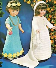 Dolls clothes knitting  pattern for a 20 inch doll. Laminated copy. (V Doll 91)