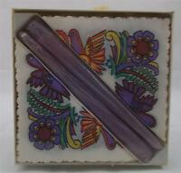 Villeroy & and Boch ACAPULCO paper serviettes and candles BOXED VERY RARE purple