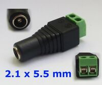 S484 - 5 Stück DC Buchse 2,1 x 5,5 mm Adapter mit Schraubklemme für z.B Netzteil
