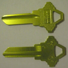 2 YELLOW BLANK HOUSE KEYS FOR SCHLAGE LOCKS SC1 CAN BE PUNCHED TO YOUR CODE