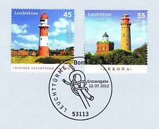 FRG 2012: Lighthouses no. 2942 + 2943 with Bonner First Day Special Cancellation