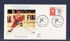 enveloppe 1er jour  Jeux Olympiques  hockey   73  Meribel les Allues   1991
