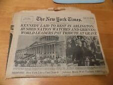 NY NEW YORK TIMES November 26 1963 Complete JFK Funeral Kennedy Assassination