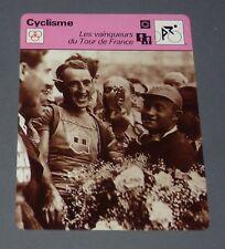 FICHE CYCLISME 1937-1939 SYLVERE MAËS BELGIQUE TOUR FRANCE WIELRIJDER CICLISMO