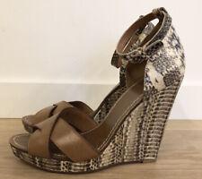 Tory Burch Livia Wedge Sandals Snake Print Size 10