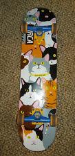 "Enjoi Jerry Hsu Cat Collage Skateboard Deck 7.5"" x 31.25"" Complete Royal Trucks"