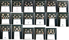 More details for royal mint proof sets blue 1983 to 1999 birthday present coin year sets; free pp
