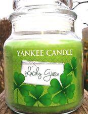 SET OF 2 Yankee Candle LUCKY GREEN Kiwi Berries~Medium 14.5 oz St Patrick's Day