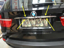 Stainless Steel Chrome Rear Trunk Lid Trim for BMW X5 E70 X6 E71 2008-2013