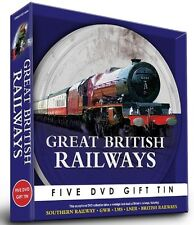 GREAT BRITISH RAILWAYS 5 DVD GIFT TIN SET A NOSTALGIC LOOK BACK RAILWAY TRAINS