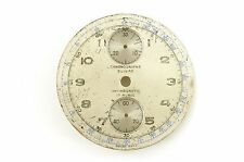 USED CHRONOGRAPH SUISSE 32.5MM SILVER UP/DOWN 2 REGISTER CHRONOGRAPH WATCH DIAL