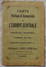 Carte (ancienne) politique et commerciale de l'Europe Centrale (Leconte-Guilmin)