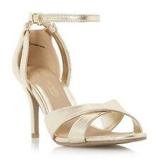 Head Over Heels Maddie Ankle Strap Gold Snake Print Sandals UK3 EU36 JS13 77