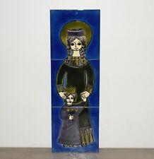 Dodik Jégou - Tableau céramique décoratif  Vierge à l'Enfant – vintage 1970