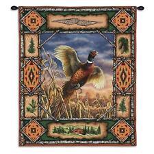26x33 Pheasant Bird Lodge Wildlife Nature Tapestry Wall Hanging