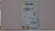 DECAL FERRARI F430 GT2 24H LE MANS 2007 SCUDERIA ECOSSE #87 BBR 1/18 COD AB18012
