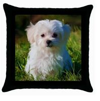 MALTESE TERRIER PUP DOG Puppy cushion cover Throw pillow 117372487