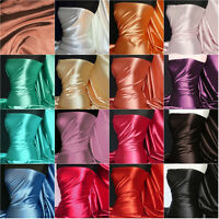 Soft Satin Ultra Sheen Light Medium Weight Stretch Fabric Material Q710