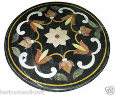 Size 2'X2' Marble Side Coffee Table Top Rare Inlay Floral Ornate Patio Arts H923
