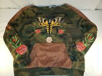 Hudson Outerwear Hoodie Sweatshirt Only the Strong Embroidered Camo Mens 2XL
