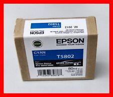 10-2013 NIB Genuine Epson Pro 3800 3880 Cyan K3 Ink T5802 T580200