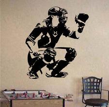 Wallpaper Baseball Catcher Sport Vinyl Wall Sticker Waterproof Poster Home Decor