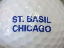 (1) ST BASIL CHICAGO CHURCH RELIGION LOGO GOLF BALL