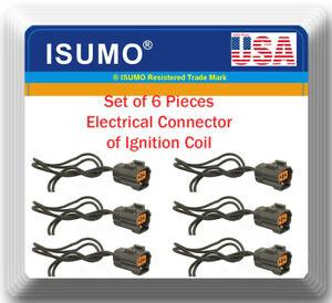 6 x Ignition Coil Connector Fits: OEM#LHE1510AA Jaguar Vanden Plas XJ6 XJR XJS