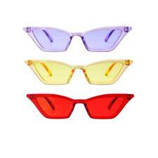 Sonnenbrille Damen Retro Katzenaugen Cateye Pin up Vintage Gelb Rot Lila