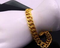 22 K YELLOW GOLD CHAIN BRACELET LINK CHAIN BRACELET AWESOME GIFTING JEWELRY