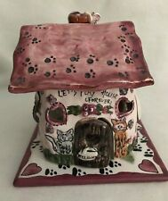 """Heather Goldminc """"Let'S Play House Forever"""" Candle House With Base"""