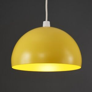 Yellow Dome Metal Ceiling Pendant Shades Retro Design Light Lamp easy fit shade