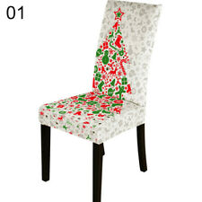 Christmas Elastic Print Chair Cover Banquet Xmas Party Home Decor