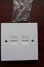 2G Square Plate Telephone Master Socket  2 capacitors resistors surge protectors