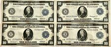 Wow_4- 1914 U.S. Federal Reserve Notes, Please See Other Notes, Gold, Coins