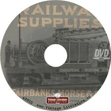 Railway Supplies Catalog {1910 Fairbanks-Morse Railroad Tools Hardware} on  DVD