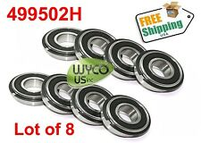 "EIGHT (8) 499502H SEALED WHEEL BEARINGS W/ RETAINER RING, 5/8"" x 1-3/8"", NEW"