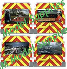 00 1:76 Waterslide Transfers Ford Transit SWB Code 3 Network Rail Rear Chevrons