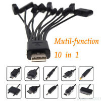 USB Cable Universal 10 in 1 Multi-Function Cell Phone Charger Cord Charging CU7