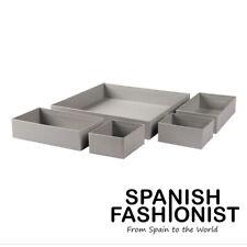 IKEA GRÅSIDAN BOX STORAGE SET OF 5 IN GRAY/ GREY