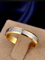 LADIES GOLD SILVER RING STAINLESS STEEL NEVER FADE LOVE RING PREMIUM QUALITY**