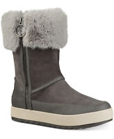 Koolaburra by UGG Women's Tynlee Suede & Faux Fur High Boots Gray Size 6 M