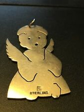 Vintage Sterling Silver Angel Pendant Designer Signed Scrap Or Not