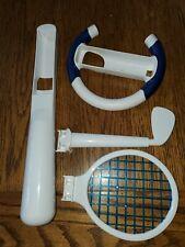 Nintendo Wii Sports ACCESSORY SET Tennis Racket Golf Club Driving Wheel Bat