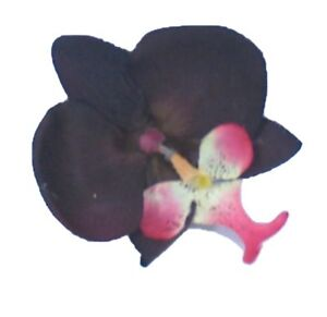 Dark Brown & Pink Orchid Fascinator mounted on a strong hair grip