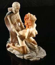 Fantasy Women Decor Ghost Sex Skeleton Skull Halloween Statue Resin Sculpture