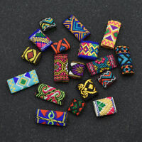 Women Dreadlock Beads Hair Braid Fabric Art DIY Jewelery Accessories Crafts 5pcs