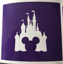 X5 Mickey Castle Stencil Glass Craft Etched Vinyl Sticker Silhouette Disney