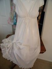 LALA'S long sheer white nightgown for Saks Fifth Avenue sz SMALL/MEDIUM